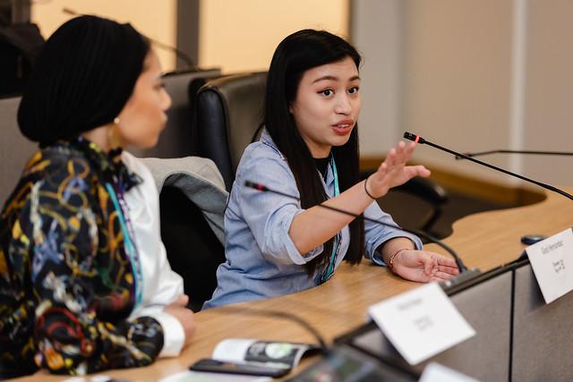 LeadHerShip participants in mock debate