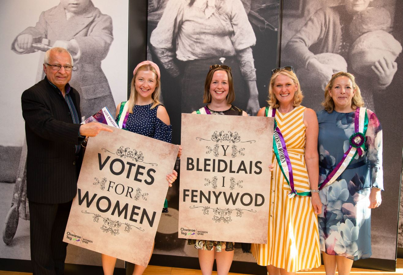 Votes for women signs