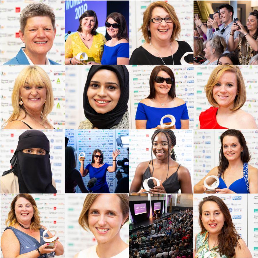 Womenspire 19 Winners in a grid